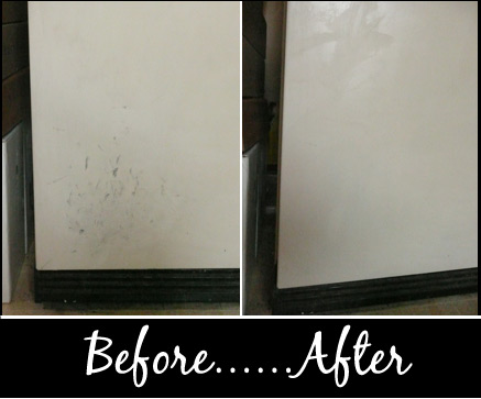 Refrigerator Before and After Peroxide